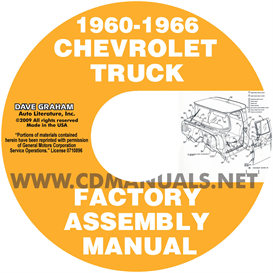 1960-1966 chevrolet and gmc pickup truck assembly manual