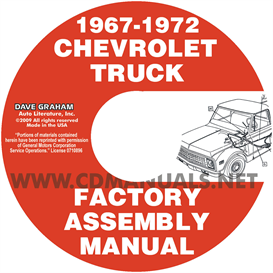 1967-1972 chevrolet and gmc pickup truck assembly manual