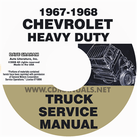 1967-1968 chevrolet 70-80 heavy truck service manual