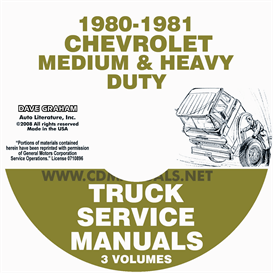 1980-1981 chevrolet medium and heavy truck service manual