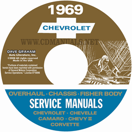 1969 chevy shop, overhaul, & body manuals- all models