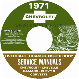 1971 chevy shop, overhaul, & body manuals- all models