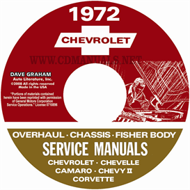 1972 chevy shop, overhaul, & body manuals- all models