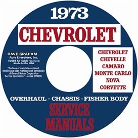 1973 chevy shop, overhaul, & body manuals- all models
