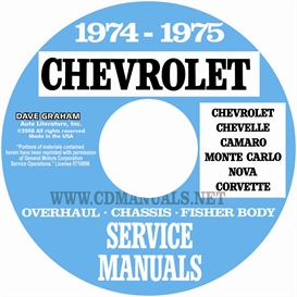 1974-1975 Chevy Shop, Overhaul, & Body Manuals- All Models | eBooks | Automotive
