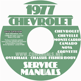 1977 Chevy Car Service, Overhaul, & Body Manuals | eBooks | Automotive