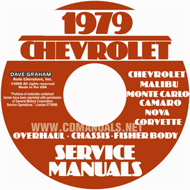 1979 chevy car service, overhaul, and body manuals