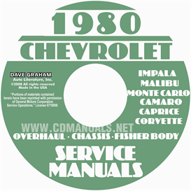 1980 Chevy Car Service Manual, Overhaul And Body Manuals | eBooks | Automotive