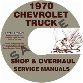 1970 chevy pickup & 10-60 truck repair manual & overhaul manual