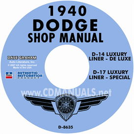 1940 dodge service manual - all models