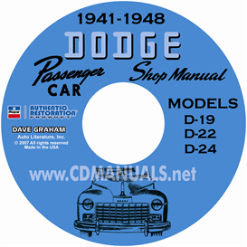 1941-1948 dodge service manual - all models