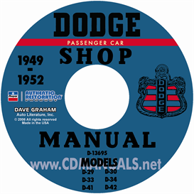 1949-1952 dodge service manual - all models