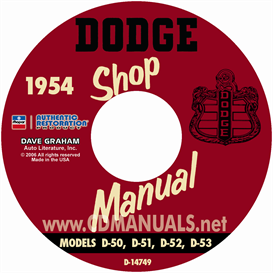 1954 dodge service manual - all models