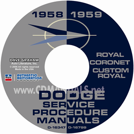 1958-1959 dodge service manual - all models