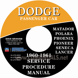 1960-1961 Dodge Service Manual - All Models | eBooks | Automotive