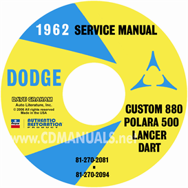 1962 Dodge Service Manual - All Models | eBooks | Automotive