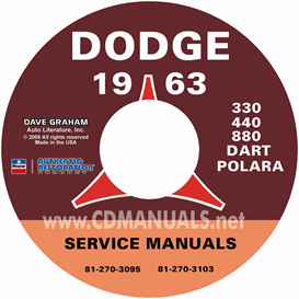 1963 dodge service manual - all models