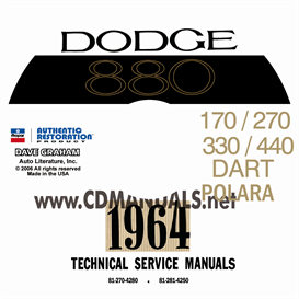 1964 dodge service manual - all models