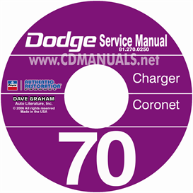 1970 dodge charger, coronet, & super bee cd shop manual