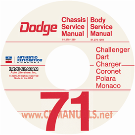 1971 dodge car service manuals - all models