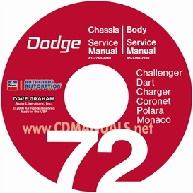 1972 dodge service repair manuals - all models