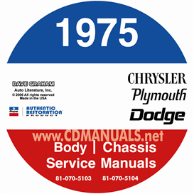 1975 Chrysler, Dodge, & Plymouth Repair Manual- All Models | eBooks | Automotive