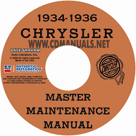 1934-1936 chrysler master shop manual all models