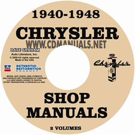 1940-1948 chrysler shop manual all models