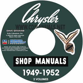 1949-1952 chrysler shop manual all models