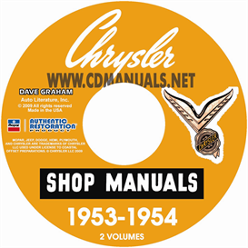 1953-1954 chrysler shop manual all models