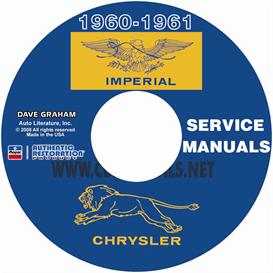 1960-1961 chrysler and imperial shop manual all models