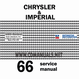 1966 chrysler shop manual all models