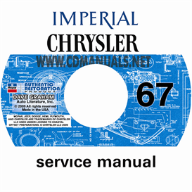 1967 chrysler and imperial shop manual all models