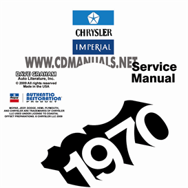 1970 chrysler shop manual all models