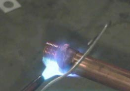 solder copper pipe and wipe lead how to diy part 11