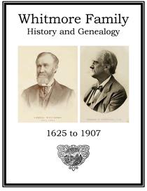 Whitmore Family History and Genealogy | eBooks | History