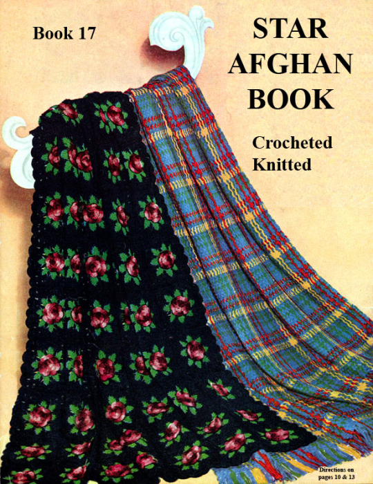 Third Additional product image for - Star Afghan Book | Star Book 17 | American Thread Company DIGITALLY RESTORED PDF
