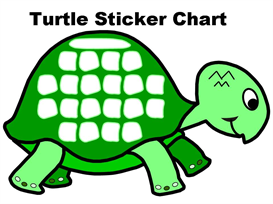 turtle sticker chart set