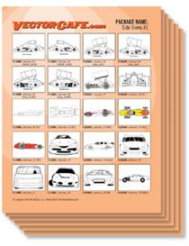 Race Car SIDE VIEWS Vector Clip Art #1 | Other Files | Clip Art