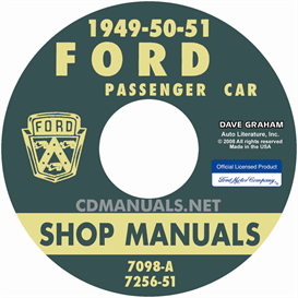 1949-1951 ford shop manual - all models
