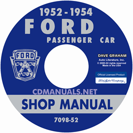 1952-1954 ford shop manual - all models