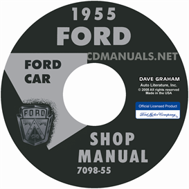 1955 ford shop manual - all models