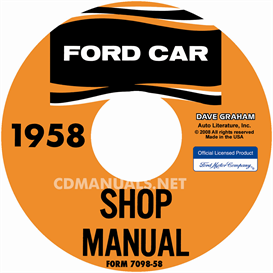 1958 ford shop manual - all models
