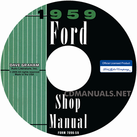 1959 ford shop manual- all models