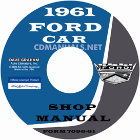 1961 ford car shop manual - all models