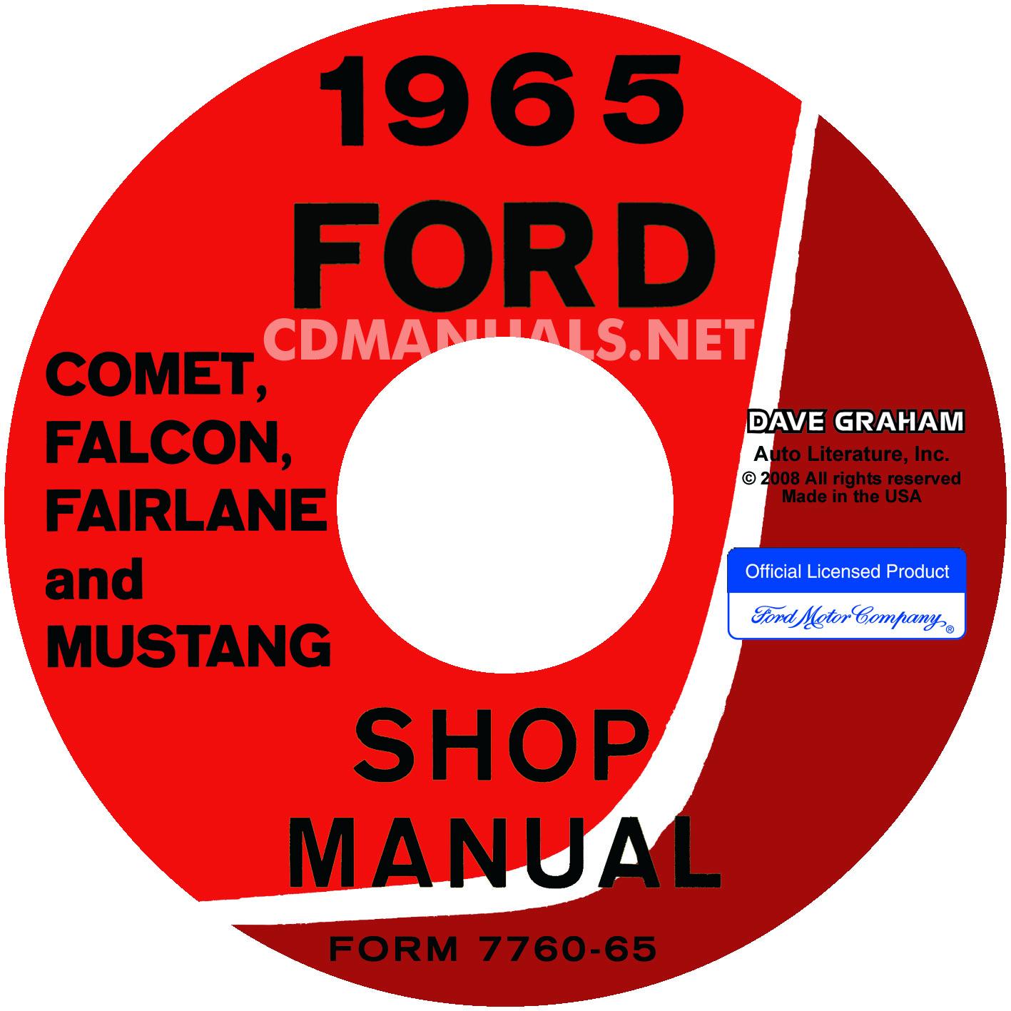 1965 Ford Mustang, Falcon, Futura, Fairlane, Ranchero, And Mercu | eBooks |  Automotive