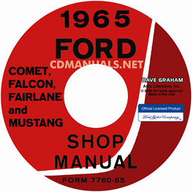 1965 ford mustang, falcon, futura, fairlane, ranchero, and mercu