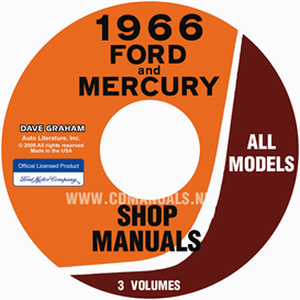 1966 ford shop manual for cars, vans, and econoline