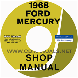 1968 ford and mercury big car shop manual