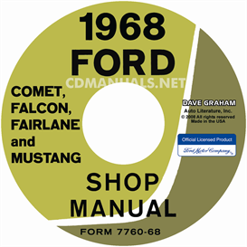 1968 shop manual mustang/fairlane/falcon/fairlane/montego/cougar